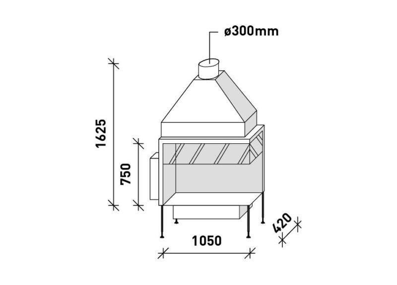 MF 1050-75 G 2S L/R