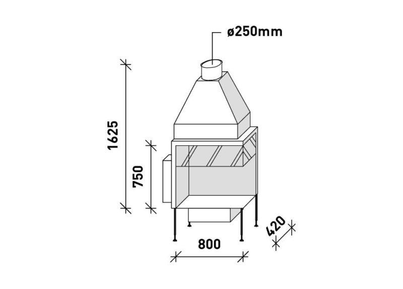 MF 800-75 G 2S L/R