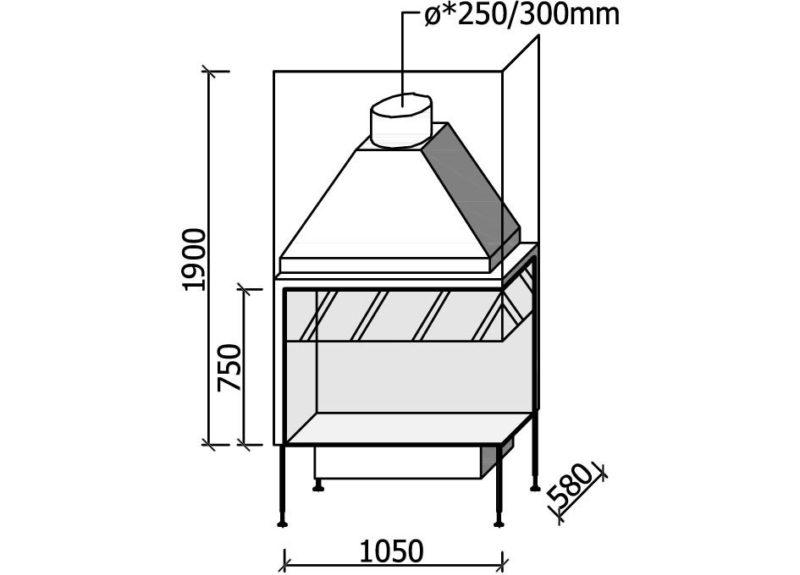 MF 1050-75 W 2S LR