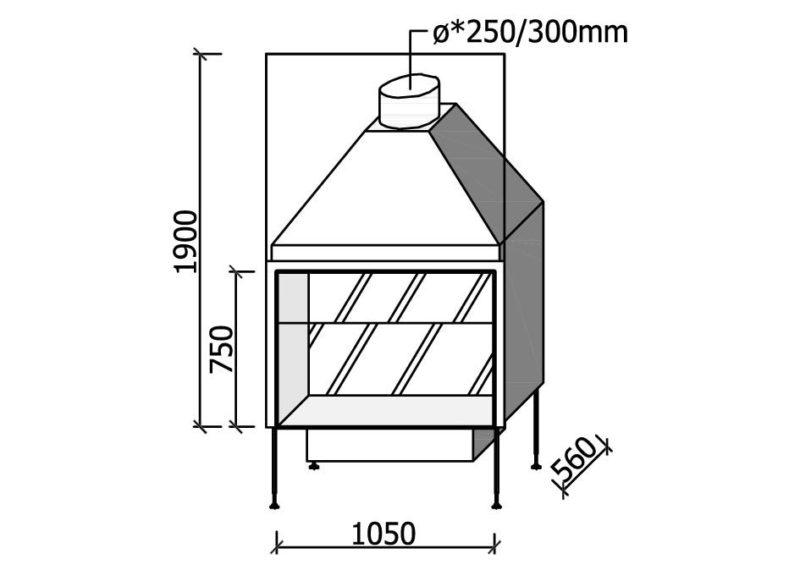 MF 1050-75 W T