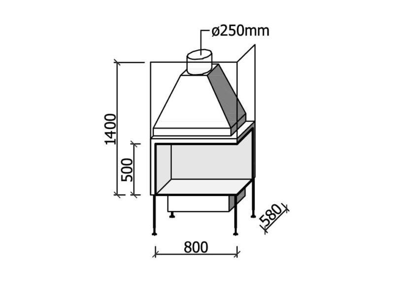 MF 800-50 W 2S LR