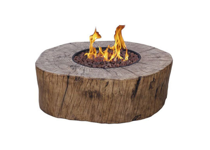 Tree outdoor gasfire