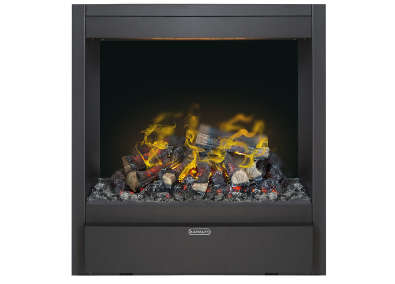 Albany electric fire with water vapour