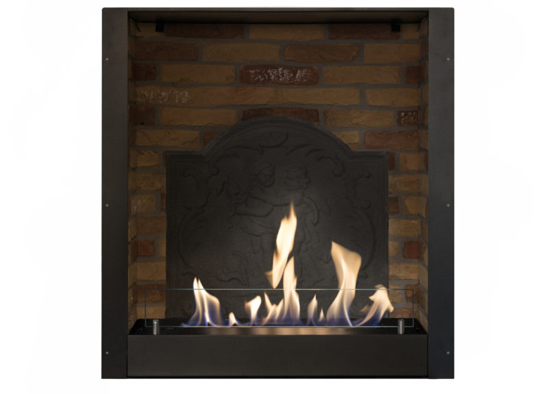 Built-in unit L with medaillon, built-in fire