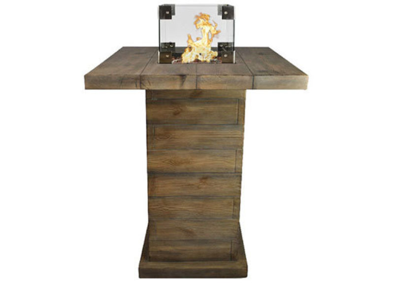 Zeus standing table with gas fire
